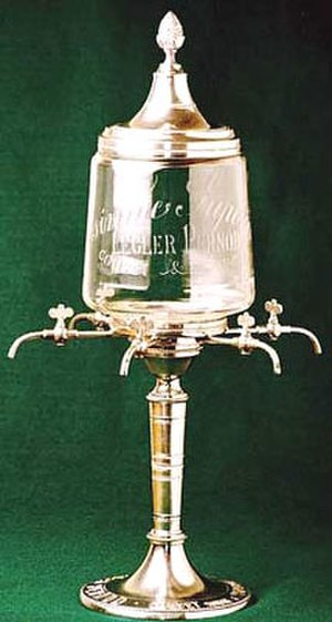 Absinthiana - A rare six spigot Legler Pernod absinthe fountain