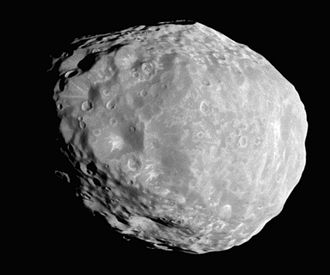 Janus (moon) - Janus as imaged by Cassini on April 7, 2010: highest-resolution full-disk image to date