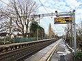 PIS at Bramhall station, January 2021.jpg