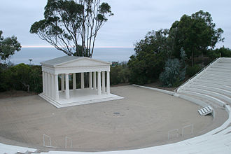 Point Loma, San Diego - The Greek theatre the Theosophists built in 1901.