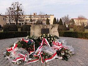 POL Dębowiec Pomnik Cichociemnych po rocznicy.JPG