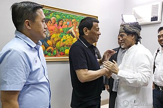 Moro National Liberation Front - President Rodrigo Duterte with Nur Misuari during their meeting at Davao City