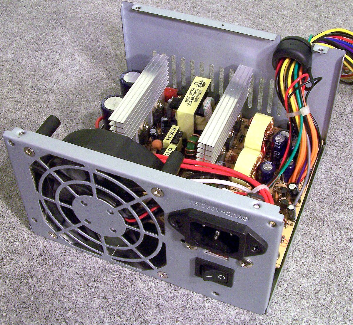 Power Supply Unit Computer Wikipedia Wiring Diagram Additionally 3 Wire Condenser Fan Motor Diagrams