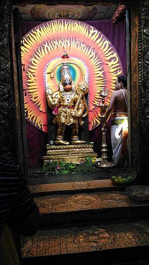 Ashtamsa Varadha Anjaneyar Temple - Lord Hanuman, in one of his glorious alankaram