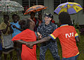 Pacific Fleet Band performs at primary school during Pacific Partnership 2015 150701-N-PZ713-464.jpg
