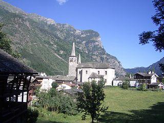 Riva Valdobbia Frazione in Piedmont, Italy