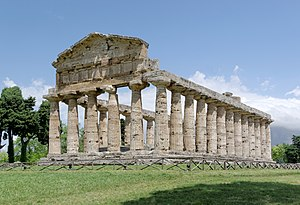 "Temple of Athena (Paestum) - Temple of Athena at Paestum (so-called ""Temple of Ceres"")"