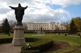 Tiškevičiai Palace, Palanga - The palace's northern façade