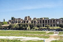 Palatine Hill from across the Circus Maximus April 2019.jpg