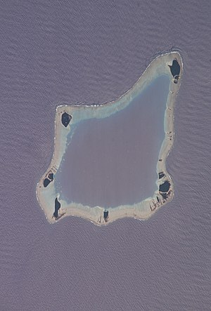 Palmerston Island - Satellite view of Palmerston