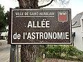Panneau de l'allée de l'Astronomie (Saint-Herblain).jpg