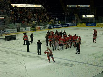 Nottingham Panthers - The Panthers win the 2010 Challenge Cup, the first of nine titles won over the next 5 seasons.