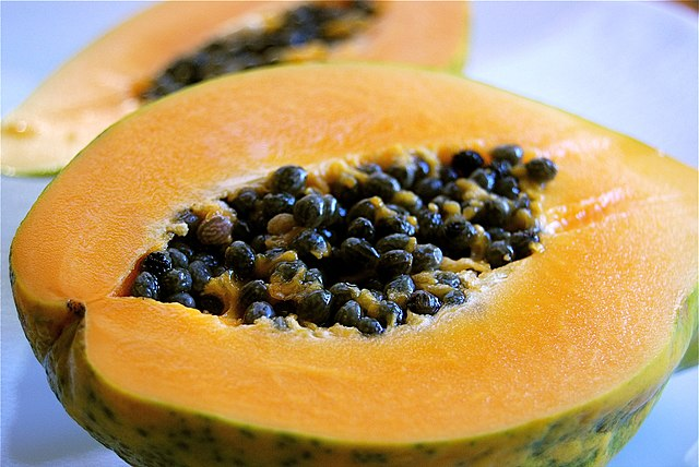 Fresh papaya is a potent acne fighter