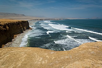 Sea - Coastal sea waves at Paracas National Reserve, Ica, Peru