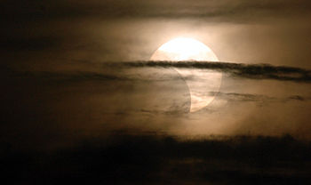 English: A partial solar eclipse that was seen...