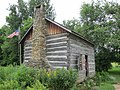 Passmore Log Cabin, Behind Fire House near New Haven OH - panoramio.jpg