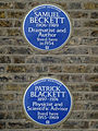 Patrick Blackett 1897-1974 physicist and scientific advisor lived here 1953-1969 + Samuel Beckett 1906-1989 dramatist and author lived here in 1934.jpg