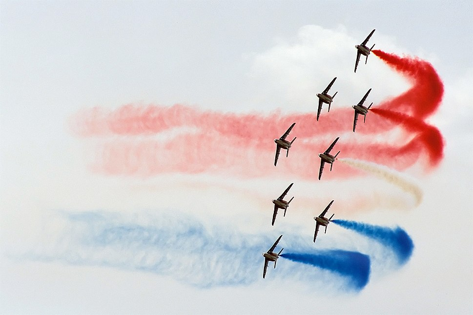 Patrouille de France, French tricolor turn, Radom AirShow 2005, Poland