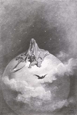 "Horror fiction - An Illustration of Poe's ""The Raven"" by Gustave Doré"