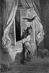 Homme devant une fenêtre ouverte laissant entrer un oiseau en vol