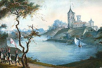Pavlovsk, Saint Petersburg - Bip fortress in the early 19th century