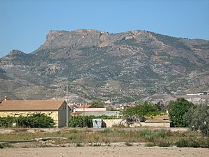 87th Mixed Brigade - View of Peña Rubia mountain in Lorca, the town where the 87th Mixed Brigade was established in 1937.