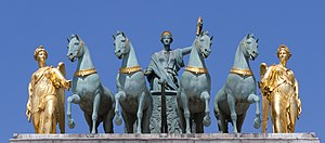 Arc de Triomphe du Carrousel - Peace riding in a triumphal chariot