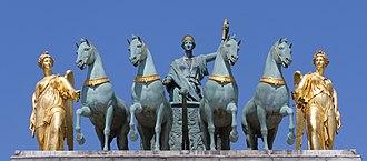 Arc de Triomphe du Carrousel - Peace riding in a triumphal chariot