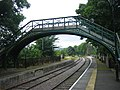 Pedestrian bridge at Stanhope railway station - geograph.org.uk - 1420390.jpg