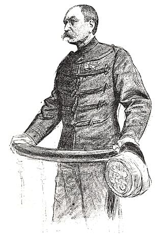Georges-Gabriel de Pellieux - Pellieux testifying at the 7th session of the Zola trial, 1898, by Louis Rémy Sabattier for lIllustration