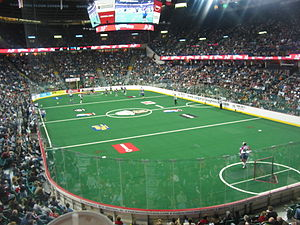 Scotiabank Saddledome - Inside the Saddledome during a Calgary Roughnecks game