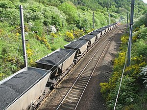 Merry-go-round train - A merry-go-round train hauled by a Class 66 locomotive