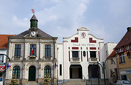 The town hall and festival hall of Pernes