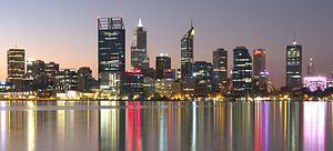 Perth - Perth's skyline, viewed from South Perth.