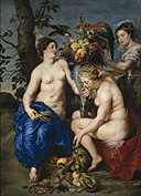 Peter Paul Rubens, Frans Snyders - Ceres with two Nymphs (1624).jpg