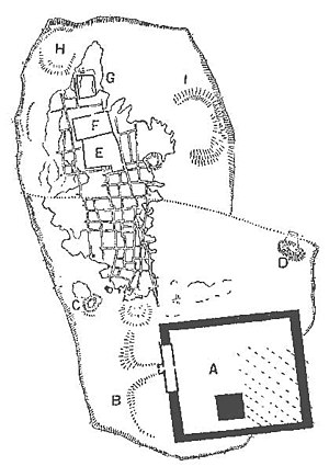 Naucratis - Petrie's sketch plan of Naucratis