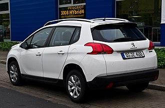 Peugeot 2008 - Image: Peugeot 2008 82 V Ti Access – Heckansicht, 28. Mai 2014, Düsseldorf
