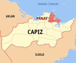 Map of Capiz with Panay highlighted