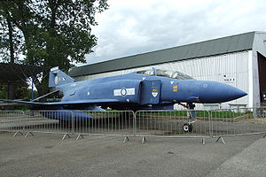 No. 19 Squadron RAF - The former Royal Air Force McDonnell Douglas Phantom FGR.2 (F-4M) (s/n XT899/B) of No. 19 Squadron, RAF. painted blue overall on display at the Kbely museum (Czech Air Force Museum) at Prague, Czech Republic, on 17 May 2007