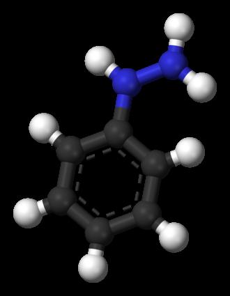 Phenylhydrazine - Image: Phenylhydrazine 3D balls