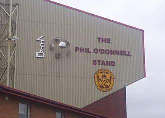 Phil O'Donnell (footballer) - The stainless-steel permanent memorial to O'Donnell, erected on November 2011.
