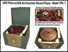 phonograph wikipediafirst all transistor phonograph[edit]
