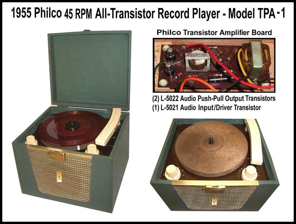 Philco All-Transistor Phonograph-1955