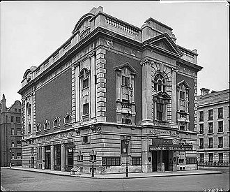 St James's Hall - The Philharmonic Hall (originally the new St James's Hall) in Great Portland Street as it appeared in 1917.