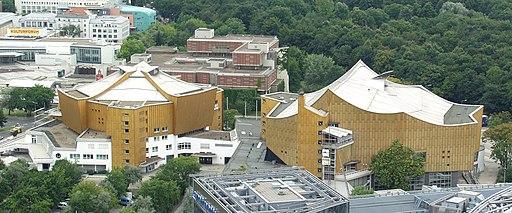 Philharmonie und Kammermusiksaal Berlin - von oben