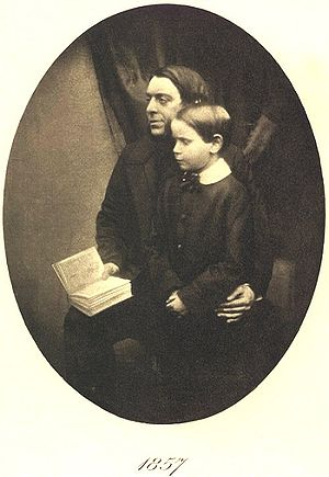 Philip Henry Gosse - Philip Henry Gosse and his son Edmund Gosse, 1857. Frontispiece of Father and Son.