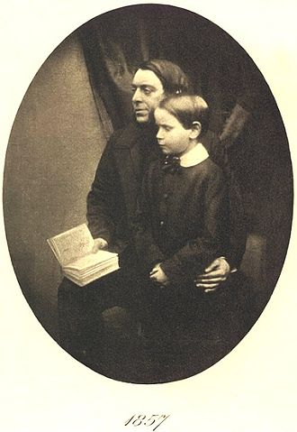 Edmund Gosse - Edmund Gosse in 1857, with father Philip Henry Gosse