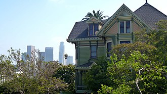 Carroll Avenue - Image: Phillips house and Downtown L.A