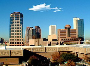 Downtown Phoenix, Arizona, county seat of the ...
