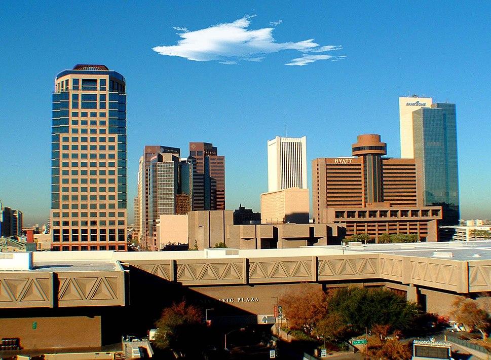 Phoenix skyline Arizona USA
